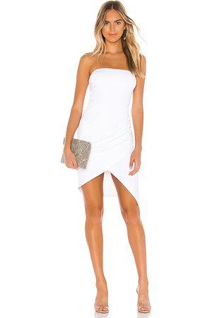 Susana Monaco Strapless Side Pleat Dress in - White. Size M (also in XS, S).