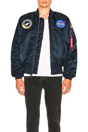 Alpha Industries Nasa MA 1 Bomber in - Blue. Size L (also in M, S).