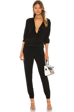 MONROW Crepe Long Sleeve Jumpsuit in - . Size S (also in XS).