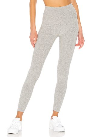 Beyond Yoga Spacedye Caught In The Midi High Waisted Legging in - Grey. Size L (also in M, XS).