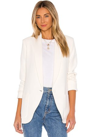 Amanda Uprichard Shawl Collar Blazer in - White. Size L (also in M, S, XS).