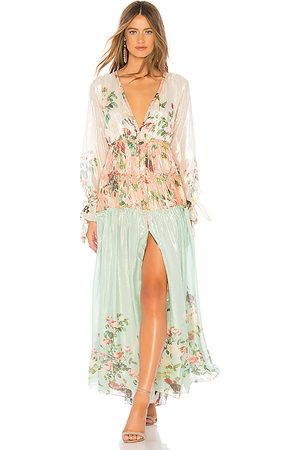 ROCOCO SAND Ruched Long Dress in - Mint. Size XS (also in S).
