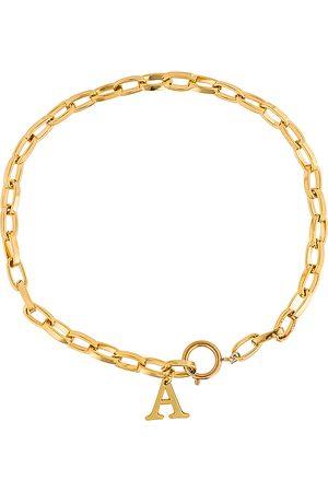 Martha Calvo Damen Halsketten - Initial Lariat in - Metallic . Size A (also in B, D, E, F, G, H, I, J, K, L, M, N, O, P, T).