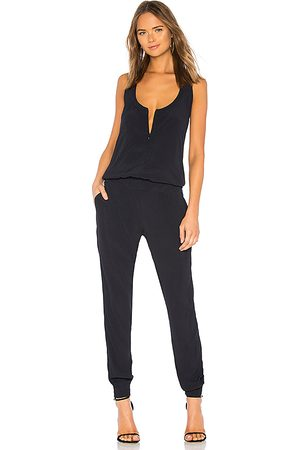 MONROW Crepe Jumpsuit in - Blue. Size S (also in XS).