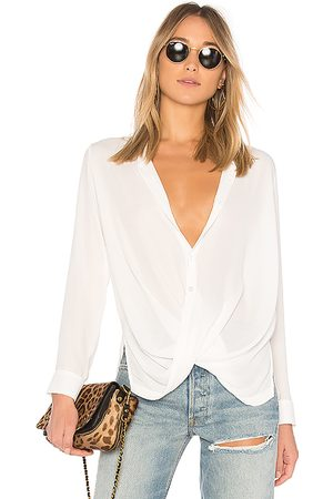 krisa Surplice Button Blouse in - . Size L (also in M, S, XS).