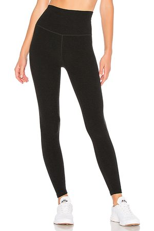 Beyond Yoga Spacedye High Waisted Midi Legging in - Black. Size L (also in M, S, XS).