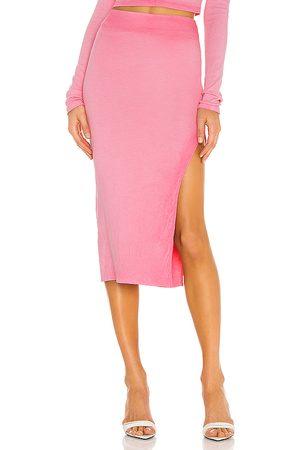 Cotton Citizen X REVOLVE Melbourne Midi Skirt in - Pink. Size L (also in S, XS).