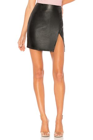 superdown Trinity Faux Leather Skirt in - . Size L (also in M, S, XL, XS, XXS).