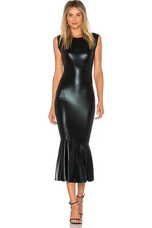 Norma Kamali Sleeveless Midi Dress in - Black. Size L (also in M, S, XS).