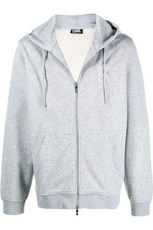 Karl Lagerfeld K embroidery zip-up hoodie