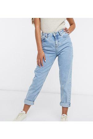 ASOS ASOS DESIGN Petite high rise 'original' mom jeans in lightwash