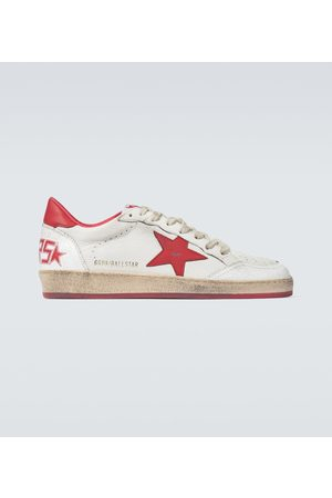Golden Goose Leder-Sneakers Ball Star
