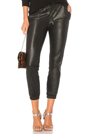 N:philanthropy Scarlett Leather Jogger in - Black. Size M (also in S).