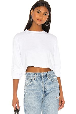 Cotton Citizen Tokyo Long Sleeve Crop Tee in - . Size L (also in M, S, XS).