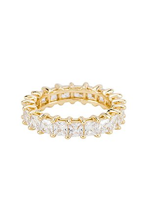 The M Jewelers Damen Ringe - The Princess Cut Eternity Band in - Metallic . Size 5 (also in 6, 7, 8).