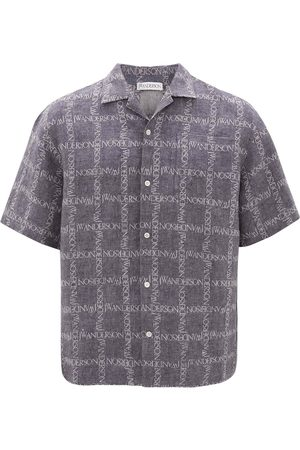 J.W.Anderson All-over logo print shirt