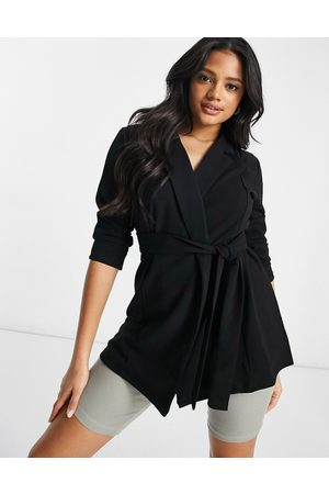 ASOS Jersey wrap suit blazer in