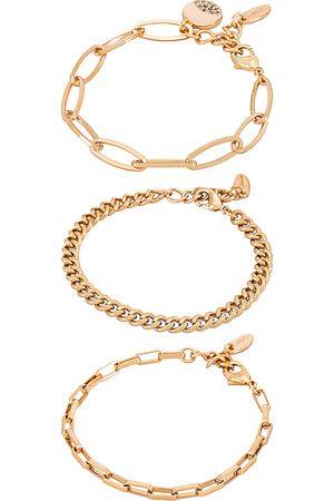 Ettika Damen Armbänder - Chain Bracelet Set in - Metallic . Size all.