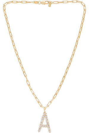 Martha Calvo X REVOLVE CZ Initial Necklace in - Metallic . Size A (also in B, C, E, G, H, J, K, M, N, S, T).