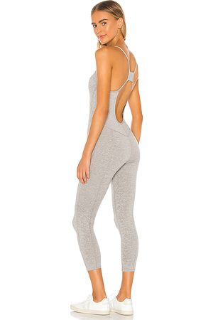 Free People X FP Movement Side To Side Performance Jumpsuit in - Grey. Size L (also in XS, S, M).