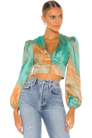 superdown Eleen Blouson Top in - Teal. Size S (also in XS).