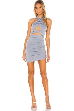 superdown Suzette Halter Mini Dress in - Blue. Size M (also in S, XL).