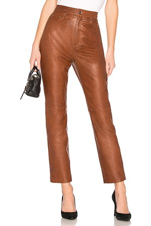 LPA Leather Straight Leg Pants in - . Size L (also in S, XXS, XS, M, XL).