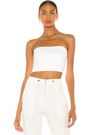 Susana Monaco Strapless Crop Top in - White. Size L (also in S, M, XS).
