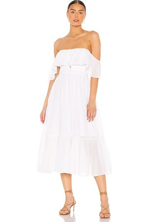 MAJORELLE Selvaggia Midi Dress in - . Size L (also in XXS, XS, S, M, XL).