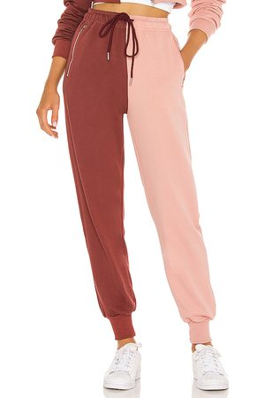 superdown Renna Two Tone Sweatpants in - Pink, Burgendy. Size L (also in XS, S, M, XL).