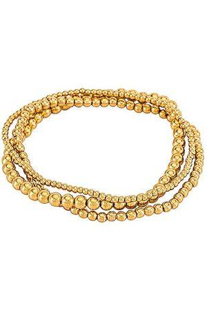 Natalie B Jewelry Damen Armbänder - Bella Trois Bracelet Set in - Metallic . Size all.