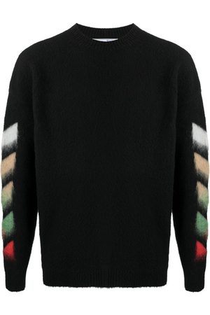 OFF-WHITE Arrows motif intarsia-knit sweatshirt
