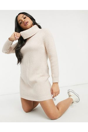 Morgan Roll neck knitted dress in