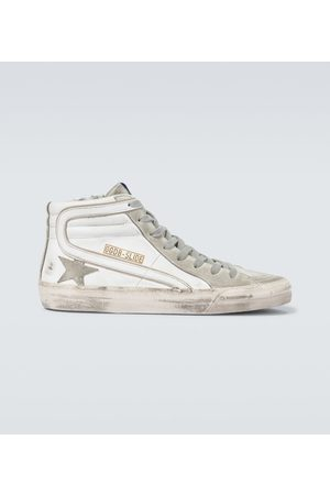 Golden Goose High-Top-Sneakers Slide aus Leder