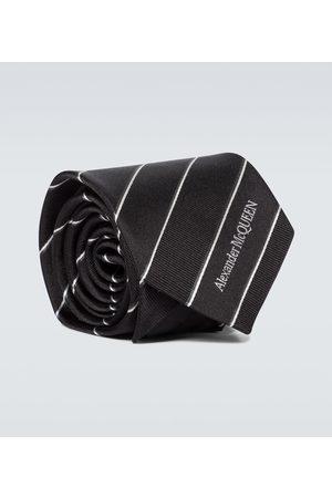 Alexander McQueen Gestreifte Krawatte aus Seiden-Jacquard