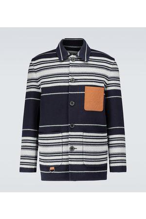 Loewe Gestreifte Hemdjacke aus Wolle