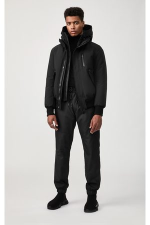 Mackage Dixon Down Bomber Jacket with Removable Hooded Bib in Black