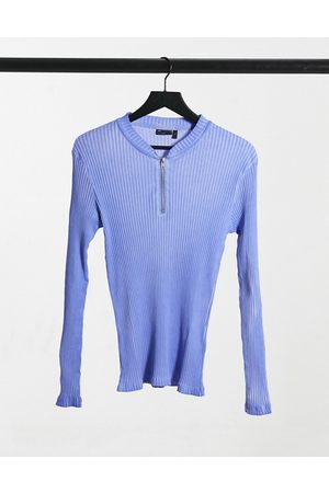ASOS Muscle long sleeve rib t-shirt with oil wash