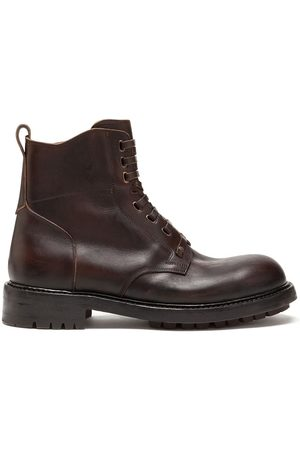 Dolce & Gabbana Herren Stiefel - Cowhide lace-up ankle boots