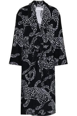 Desmond & Dempsey Damen Bedruckte Kleider - Jaguar-print cotton robe