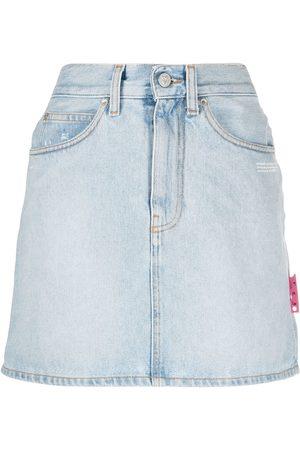 Off-White High-waist denim mini skirt