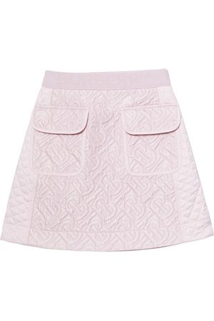 Burberry Monogram quilted panel recycled polyester skirt