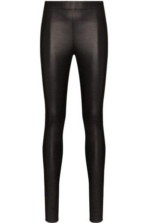Joseph High-waist lambskin leggings