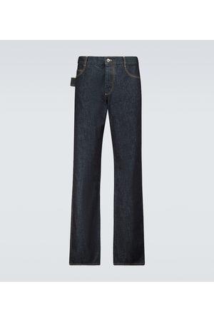 Bottega Veneta Straight Jeans aus Raw Denim