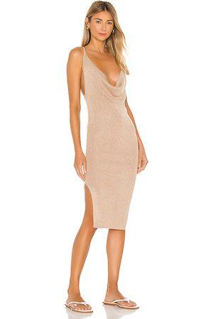superdown Sabrina Knit Midi Dress in - Tan. Size L (also in XS, S, M).