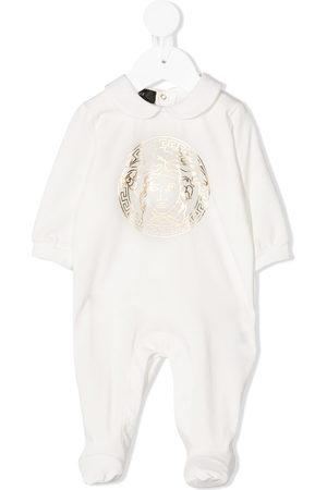 VERSACE Logo-print cotton-blend pajamas