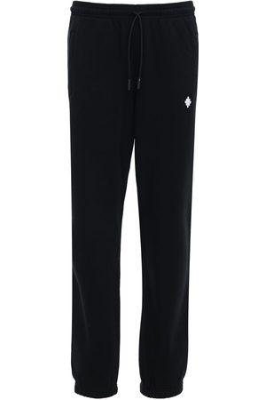 MARCELO BURLON Jersey-jogginghose Mit Kreuzstickerei