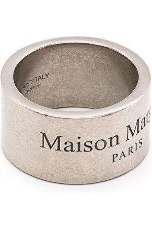 Maison Margiela Ringe - Logo-engraved band ring