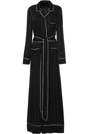 Dolce & Gabbana Damen Jumpsuits - Jumpsuit Aus Seidensatin Mit Jacquardstreifen
