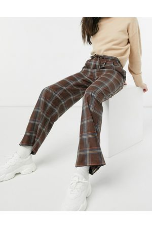 ASOS ASOS DESIN oversized dad trackpant in bold check